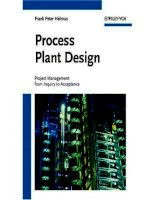 process plant design project management from inquiry to acceptance