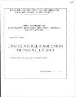 Đề tài : ứng dụng reed-solomon trong xử lý ảnh
