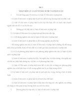 Đề cương ôn thi Tốt nghiệp môn Lý luận Nhà Nước và Pháp luật