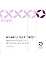 Learning for change