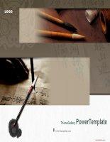 Mẫu slide dành cho  calligraphy light ani