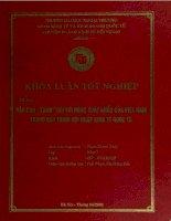 khóa luận tốt nghiệp rào cản xanh đối với hàng xuất khẩu của việt nam trong quá trình hội nhập kinh tế quốc tế