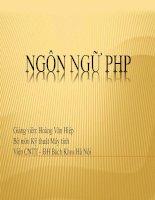 Bài giảng - giáo án: Ngôn ngữ lập trình ứng dụng PHP trong công nghệ thông tin hiện nay