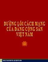Bài giảng môn đường lối cách mạng Việt Nam - Chương 5 Đường lối xây dựng nền kinh tế thị trường định hướng xã hội chủ nghĩa
