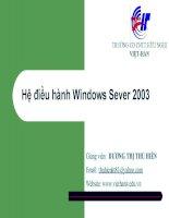 Giáo án - Bài giảng học tập công nghệ thông tin:  Windows Server 2003 và Mạng máy tính