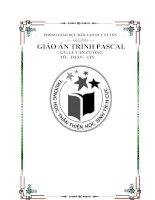 giáo án lập trình pascal có bài tập và lời giải minh họa cụ thể