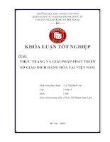 Thực trạng và giải pháp phát triển sở giao dịch hàng hóa tại Việt Nam