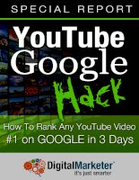 YouTube Google - How to rank any youtube video top 1 on google in 3 days