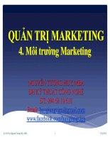 Bài giảng quản trị marketing chương 4 Môi trƣờng Marketing   ths nguyễn tường huy