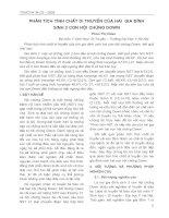 Phân tích tính chất duy truyền của hai gia đình sinh hai con hội chứng Down - Phan Thị Hoan pdf