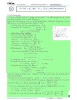 Luyện thi đại học môn vật lý chuyên đề độ lệch pha và tổng hợp các dao động