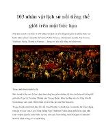 103 nhân vật lịch sử nổi tiếng thế giới trên một bức họa pptx