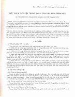 Một cách tiếp cận trong phân tích văn bản tiếng Việt. doc