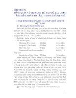 CHƯƠNG IV TỔNG QUAN VỀ THI CÔNG HỐ ĐÀO ĐỂ XÂY DỰNG TẦNG HẦM NHÀ CAO TẦNG TRONG THÀNH PHỐ doc