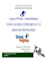 tiểu luận nâng cao chất lượng dịch vụ và hình ảnh thương hiệu global holidays
