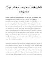 Tuyệt chiêu trong marketing bất động sản pdf