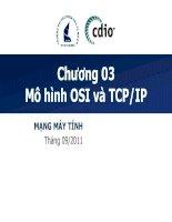 MẠNG MÁY TÍNH - Chương 03 Mô hình OSI và TCP/IP doc