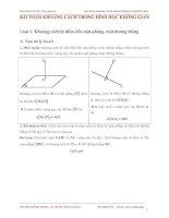 Bài toán khoảng cách trong hình học không gian