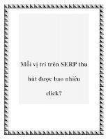 Mỗi vị trí trên SERP thu hút được bao nhiêu click? ppt