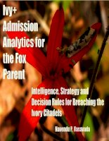 ivy admission analytics for the fox parent doc