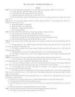 Bài tập trắc nghiệm Sinh học 12