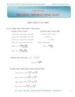 Chuyên đề phương trình lượng giác
