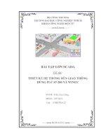 Bài tập lớn Scada - Thiết kế hệ thống đèn giao thông dùng PLC S7-200 và WinCC