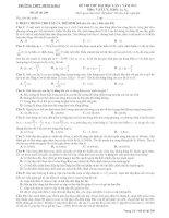 TRƯỜNG THPT MINH KHAI Mã đề thi 209 ĐỀ THI THỬ ĐẠI HỌC LẦN 1 NĂM 2013 Môn: VẬT LÝ docx