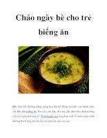 Cháo ngày hè cho trẻ biếng ăn pdf
