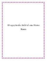 10 nguyên tắc thiết kế của Dieter Rams potx