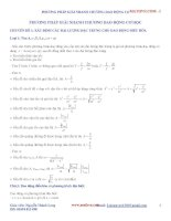 Chuyên đề luyện thi đại học - cao đẳng môn Vật lý: phương pháp giải nhanh chương dao động cơ