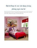 Bài trí hợp lý các vật dụng trong phòng ngủ của bé docx