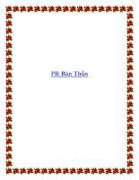 PR Bản Thân doc