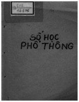 Số Học Phổ Thông (NXB Hà Nội 1986) - Nguyễn Hữu Hoan