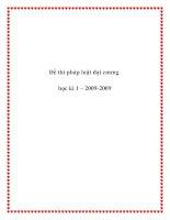 Đề thi pháp luật đại cương học kì 1 – 2009-2009 docx