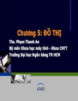 Bài giảng Cấu trúc dữ liệu và giải thuật: Chương 5 - ThS. Phạm Thanh An