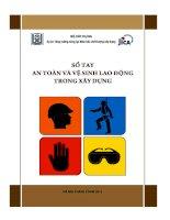 sổ tay an toàn vệ sinh lao động trong xây dựng