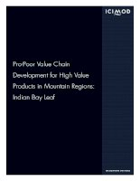 icimod pro poor value chain development for high value products in mountain regions  indian bay leaf