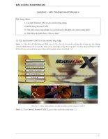 Hướng dẫn lập trình gia công cơ khí trên MasterCam x