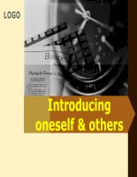 Introducing oneself & others
