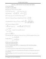Luyện thi Đại Học - Cao Đẳng môn Toán: Phần tọa độ trong mặt phẳng