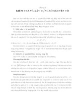 Tài liệu Kỹ thuật lập trình - Chương 3: Kiểm tra và xây dựng số nguyên tố