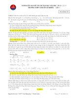 Đề thi thử vật lý trường lê khiết đề 1 năm 2014