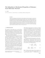 The Estimation of Mechanical Properties of Polymers from Molecular Structure ppt