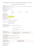 Tuyển tập giải chi tiết câu hỏi lý thuyết hóa học hay