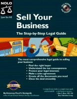sell your business, the step-by-step legal guide (2004)