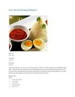 Cơm thịt bò Rendang Malaysia ppt