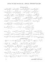 143 bài tập giới hạn dãy số