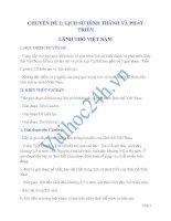 CHUYÊN ĐỀ 2: LỊCH SỬ HÌNH THÀNH VÀ PHÁT TRIỂN LÃNH THỔ VIỆT NAMI docx