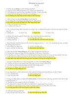 đề thi học kì II vật lý 11 có Đáp án